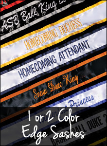 1 or 2 Color Edge Sashes