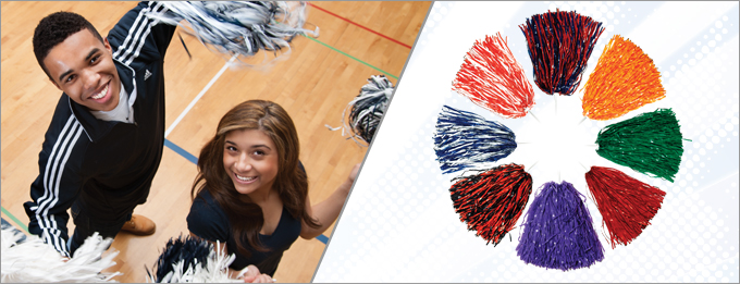 School Spirit Poms