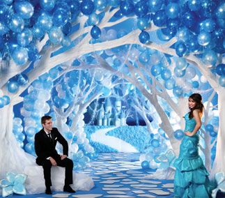 Frozen and Winterfest Prom Themes