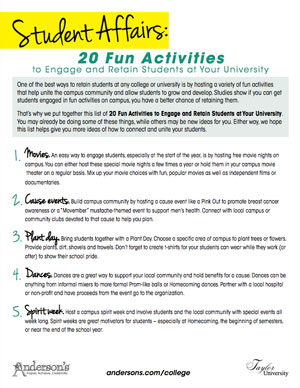 20 Fun Activities to Keep College Students Engaged