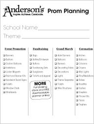 Prom Planning Checklist