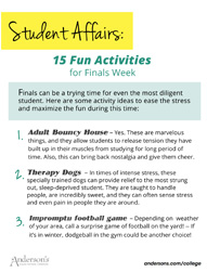 15 Fun Finals Week Activities