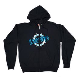 Zip Up Hoodie Sweatshirt-Screen Printed