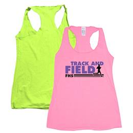 Women's Neon Colored Tank Top-Screen Printed