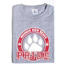 Custom Heather Gray T-shirt - Red Paw Pride