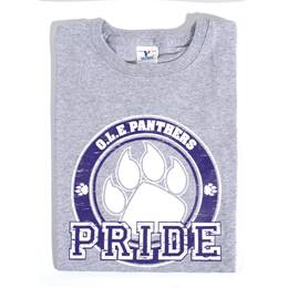 Custom Heather Gray T-shirt - Blue Paw Pride