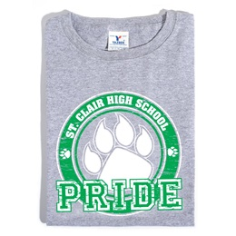 Custom Heather Gray T-shirt - Green Paw Pride