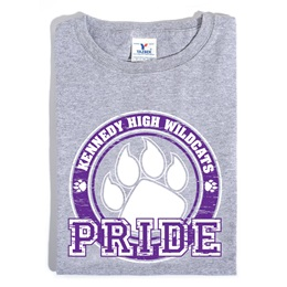 Custom Heather Gray T-shirt - Purple Paw Pride