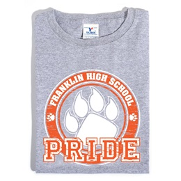 Custom Heather Gray T-shirt - Orange Paw Pride