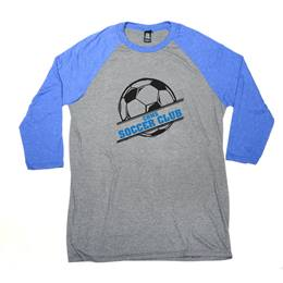 Men's Screen Printed 3/4 Sleeve Raglan Shirt