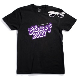 Men's Black T-Shirt & Sunglasses Set - Script Class of 2021