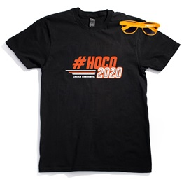 Men's Black T-Shirt & Sunglasses Set - #HOCO 2020