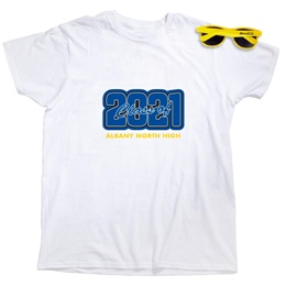 Men's Hanes® White T-Shirt and Sunglasses Set