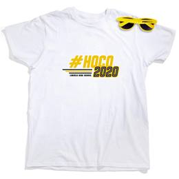 Men's White T-Shirt & Sunglasses Set - #HOCO 2020