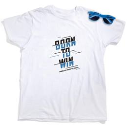 Men's White T-Shirt & Sunglasses Set - Born to Win