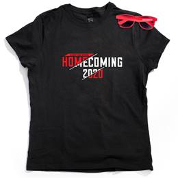 Women's Black T-shirt and Sunglasses Set - Homecoming 2020