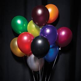 "11"" Metallic Balloons - 150/pkg"