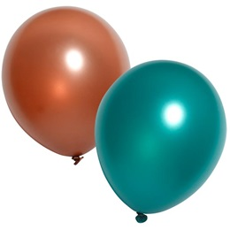 11 in Metallic Balloons - 50/pkg