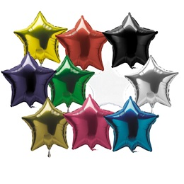Metallic Star Balloon