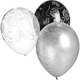11 Inch Glitter Rose Balloons
