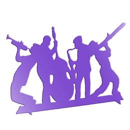 Purple Big Band Centerpiece