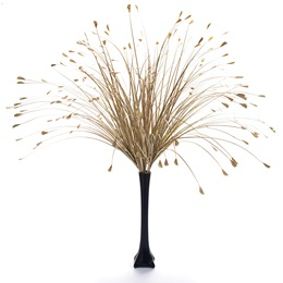 Floral Centerpiece Kit - Gold Onion Grass With Black Vase