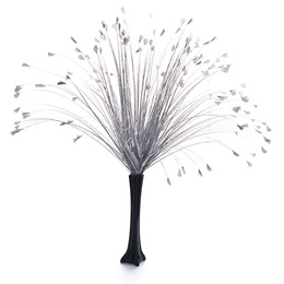 Floral Centerpiece Kit - Silver Onion Grass With Black Vase