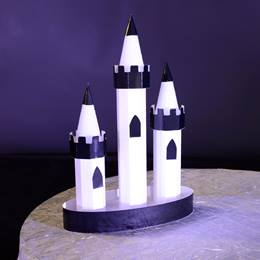 Black-and-white Castle Centerpieces Kit (set of 2)
