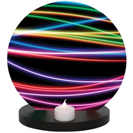 Centerpiece with Neon Lines Graphic