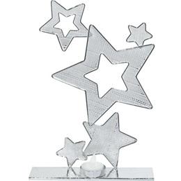 Silver Wire Stars Centerpiece (set of 2)
