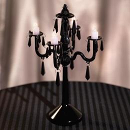 Black Chandelier Centerpiece