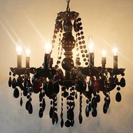 Black Gothic Chandelier Kit