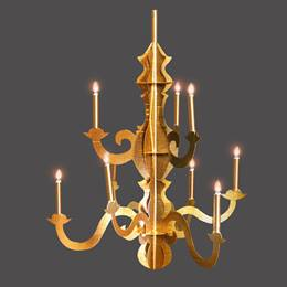 Gold Cardboard Chandelier Kit