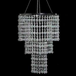 3-Tier Crystal Gems Chandelier
