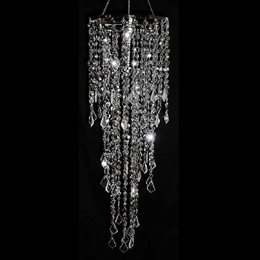 Diamond-cut Beaded Chandelier