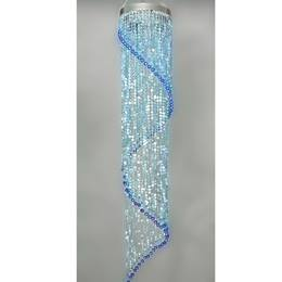 Spiral Jewel Chandelier - Blue