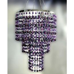 3-Tier Beaded Chandelier - Purple