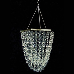 Polygon Chandelier with Clear Beads