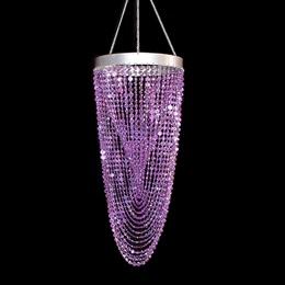 Twisting Crystals Chandelier - Purple
