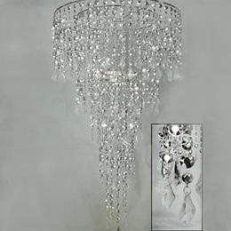 Opulent Combo Chandelier - Silver