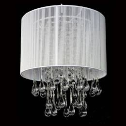 White Stringed Chandelier