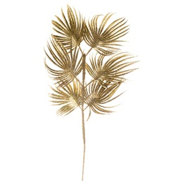 Glitter Palm Leaf Spray - Gold