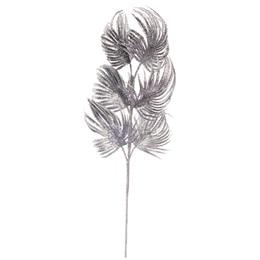 Glitter Palm Leaf Spray - Silver