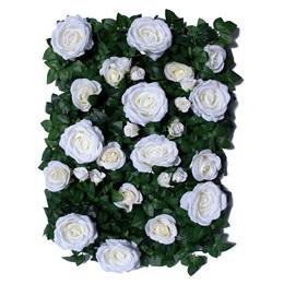 White Roses/Ivy Flower Panel