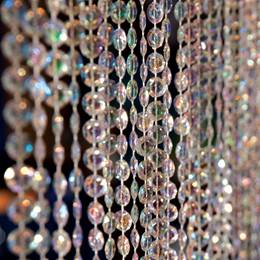 Iridescent Crystal Curtain - 9 ft. long