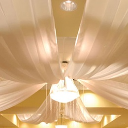 Four Panel Fabric Ceiling Drape Kit, 10' x 21'