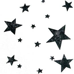 "Black Stars White Gossamer, 59"" x 100 yds"