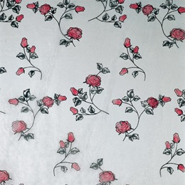 "Red Rose Gossamer, 59"" wide"