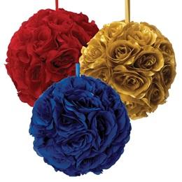 "Fabric Flower Pomander - 12"""