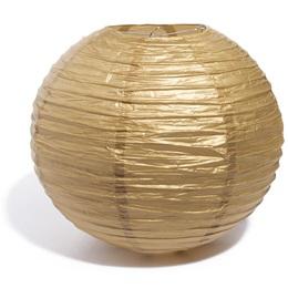 "14"" Round Paper Chinese Lantern - Gold"